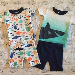 2 pairs Carters pajamas 9 months